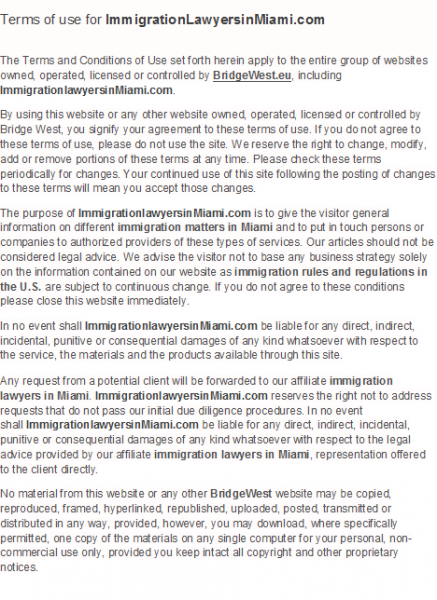 Terms-of-use-for-ImmigrationLawyersinMiami